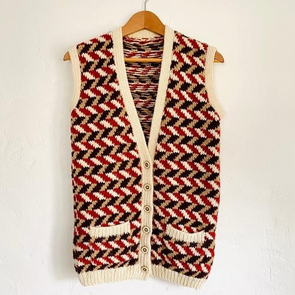 00s Vintage grandpa vest